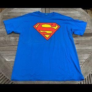 Adult Superman T-Shirt Blue X-L